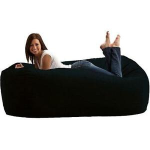 Image Is Loading Giant 6ft Bean Bag Lounge Chair Oversize Fuf