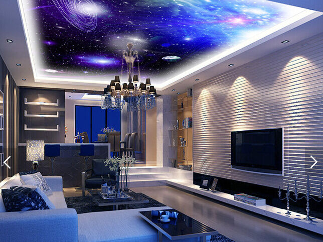 3D lila Planet Star 2 WallPaper Murals Wall Print Decal Deco AJ WALLPAPER GB