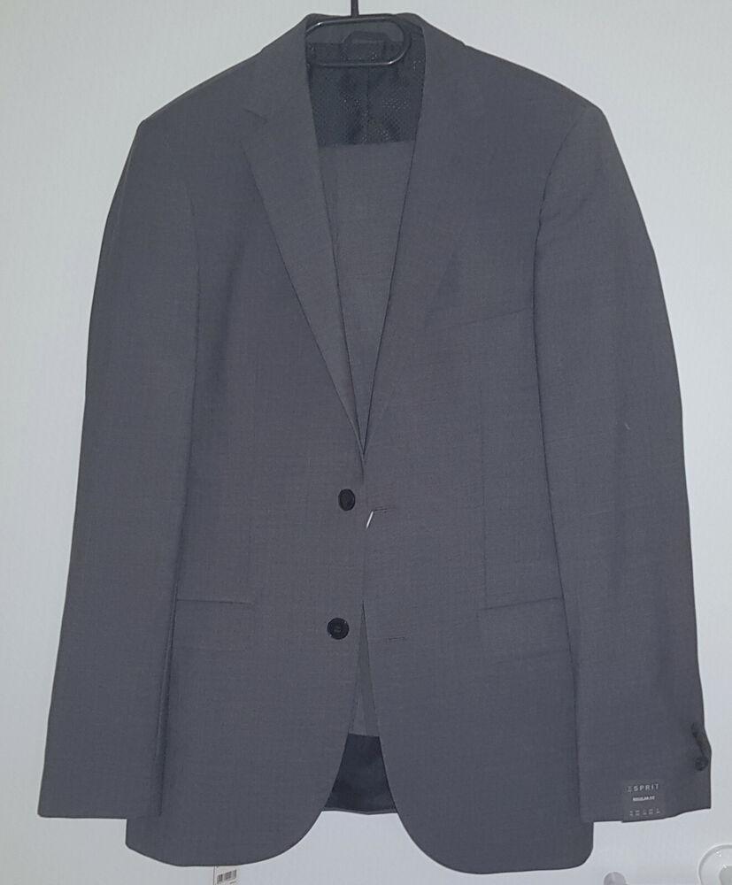 Efficace Esprit Collection Hommes Costume, Taille 90 Gris, 993eo2b902/993eo2g902 Marchandises De Proximité