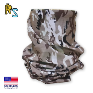 RS Light Weight Adult Size Neck Gaiter Winter Prairie Camouflage | Face Mask