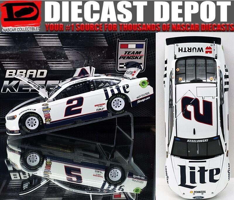 BRAD KESELOWSKI 2016 MILLER LITE 1 24 SCALE  ACTION NASCAR DIECAST