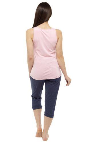 Ladies summer Pajama Lounge Set Ladies Vest and Cropped Bottom Pyjama Set