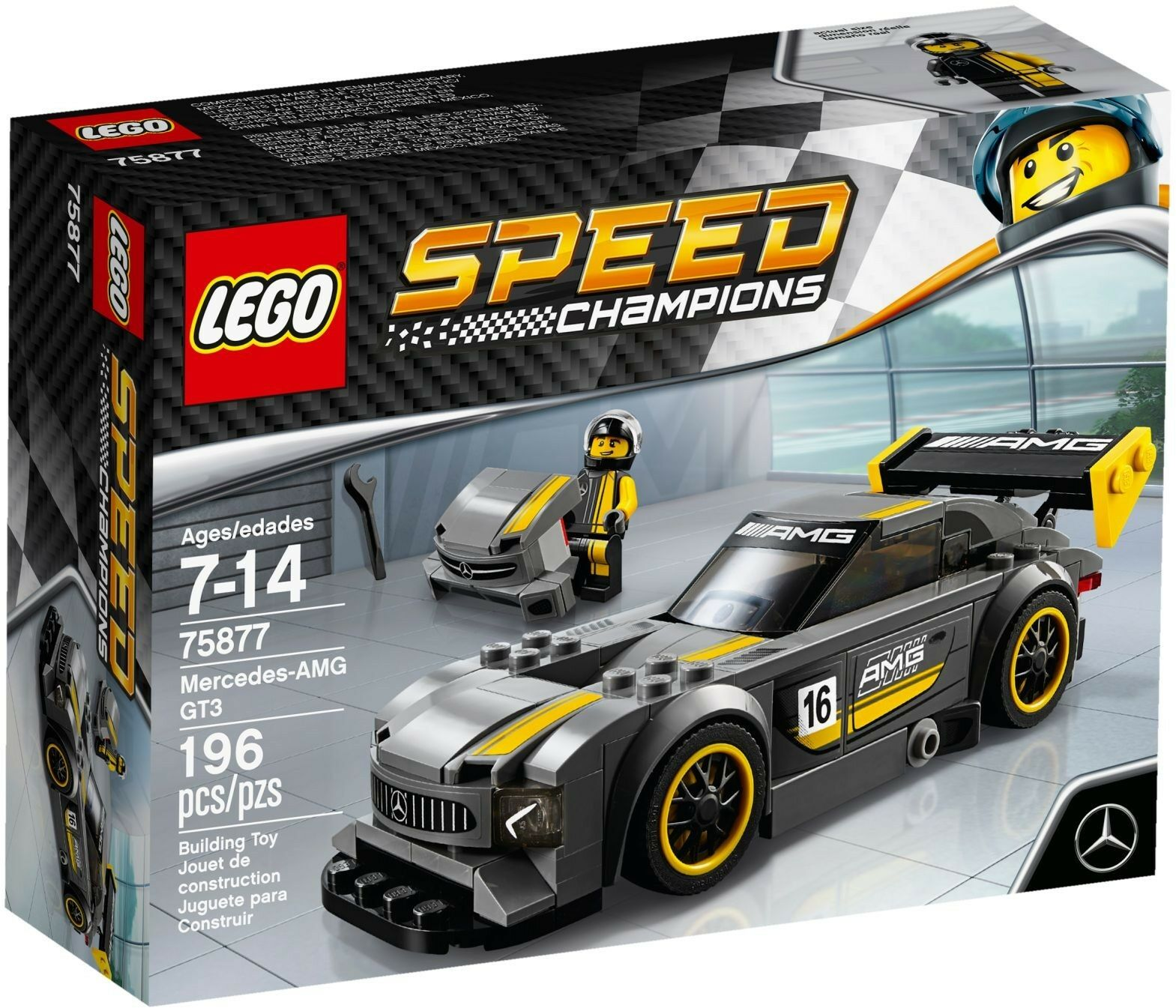 Lego 75877- Speed Champions - Mercedes-AMG GT3 - MISB - New - Sealed 2