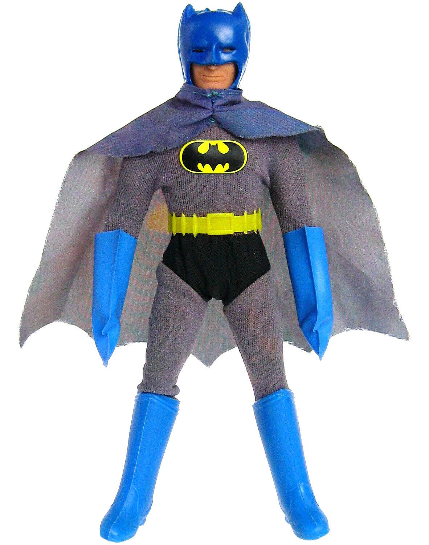 Vintage 1972 Mego Batman RC Removable Cowl w Stirrups Nylon Shorts WGSH Complete
