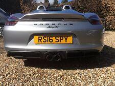 RS16 SPY, CHERISHED PERSONAL NUMBER PLATE, PORSCHE SPYDER, NEW RS60 SPYDER