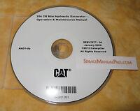Sebu7677 Cat Caterpillar 304 Cr Mini Excavator Operation Maintenance Manual Cd