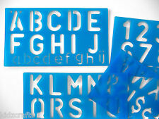 Alphabet Plastic Stencils Upper and Lower Case Letters 0-9 Numbers