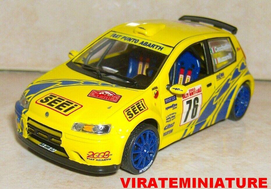 Fiat punto s1600 rallye monte  voiturelo 2003 luca cecchettini excluded virate miniature  protection après-vente