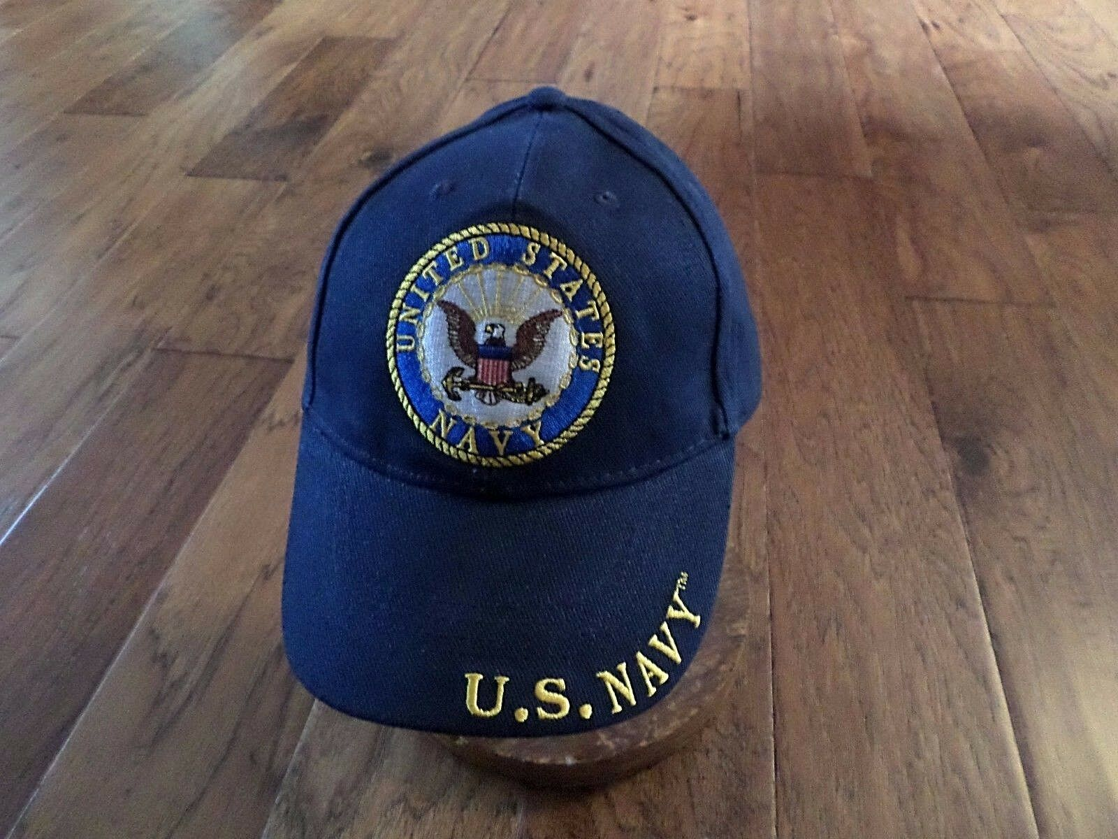 NEW U.S MILITARY OFFICIAL NAVY EMBROIDERED BLUE HAT BASEBALL CAP OFFICIAL MILITARY LICENSED HATS 7ed1d6