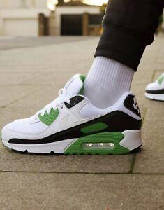 Nike Air Max 90 Retro Blanc Noir Vert UK 8 US 9 force 1 95 Og 97 98 93 III 3