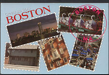 America Postcard - Greetings From Boston  LC5295