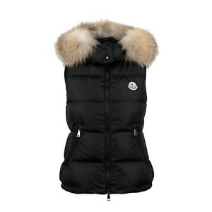 Details about NWT MONCLER Black 'Gallinule' Down Filled Puffer Vest Coat Size 3L
