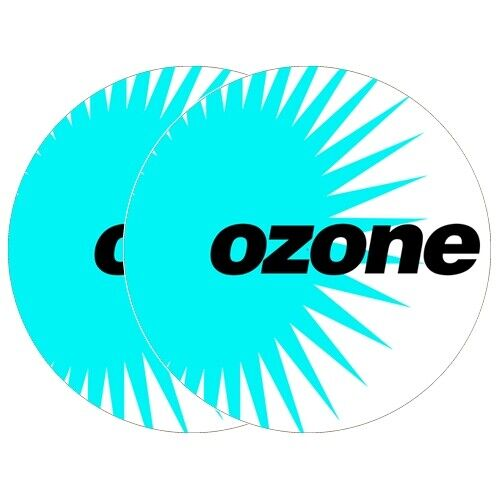 "1 Pair Ozone Label White 12"" Dj Turntable Slipmats"