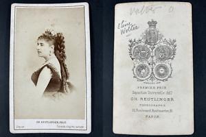 Reutlinger, Paris, Eline Volter, danseuse Vintage cdv albumen print CDV, tirag