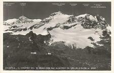160773 VERCELLI VALSESIA MONTE ROSA - COL D'OLEN Cartolina FOTOGR viagg (1955 ?)