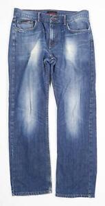 Pierre-Cardin-Herren-Blue-Mid-Wash-Denim-Jeans-Groesse-w34-l28