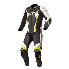 Alpinestars GP Force Leather Race Motorcycle 1 Piece Suit - Black / White Yellow