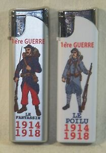 2-Feuerzeuge-Im-Sammlung-Franzoesischer-Frontsoldat
