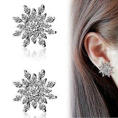 Fashion Rhinestone Snowflake&Star Ear Stud Earring Crystal Wedding Bridal Womens