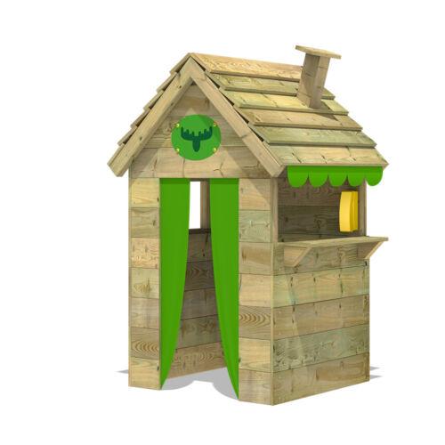 FATMOOSE BeetleBox Bling XXL Kinder-Spielhaus mit Fenster, Theke und Schornstein