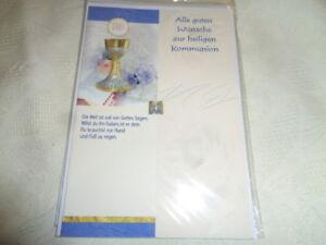 Kommunion Karte Text.Details Zu Kommunion Karte Alle Guten Wünsche Zur Heiligen Kommunion Ovp Neu
