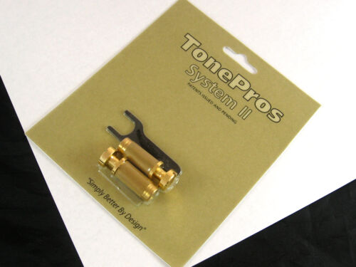Tone Pros System II  SGS1 Locking US Tailpiece Studs Gold SGS1//GLD