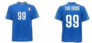Maglia-Ufficiale-Italia-Personalizzata-Nazionale-Federazione-FIGC-nome-numero