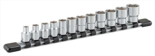 """Drive 12pc HSB312 3//8/"""" TONE Socket Set inch size with Holder 6-point 9.5mm"""