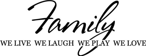 Family Live Laugh Play Vinyl Wall Home Decor Decal Quote Inspirational Adorable
