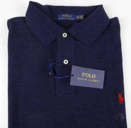 Polo Ralph Lauren SS 100/% Cotton Mesh Polo Shirt w// Embroidered Pony $85-$98 NWT