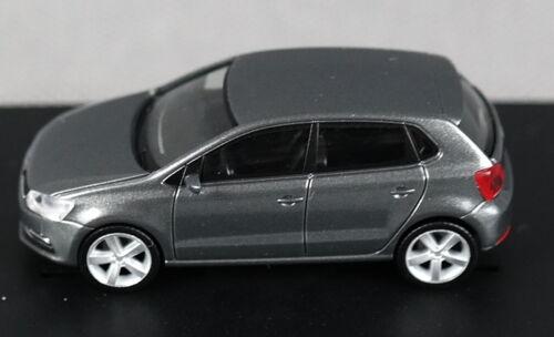 NEU! HERPA Sammlermodell - VW Polo silber grau metallic H0, 1:87 Facelift