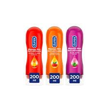 Durex Lubricantes Massage 2in1 Base Agua Aloe Vera, Estimulante y Sensual 3x200
