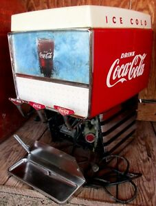 Coca-Cola-Soda-Fountain-Dispenser-Dole-Pacer-P-3713-Outboard-Ice-Cold-Vtg-60-039-s