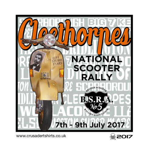 2017 CLEETHORPES SCOOTER RALLY RUN  BSRA PATCH MODS SKINHEADS not PADDY SMITH