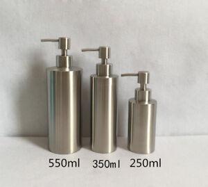 Image Is Loading Bathroom Bath Soap Dispenser Bottle Brushed Nickel  Stainless
