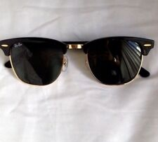 f52d4426c2 Authentic Ray Ban RB3507 Clubmaster 136 N5 Black And Arista Gold Sunglasses  51mm