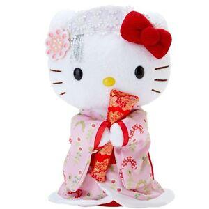 Hello Kitty kimono Kabuki plush doll made in JAPAN cute Brand-new