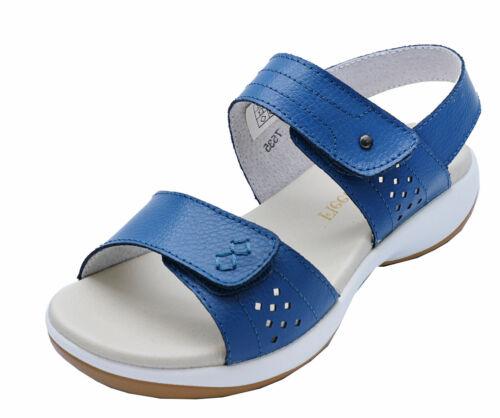 LADIES BLUE LEATHER FLEET /& FOSTER WALKING COMFORT TRAIL SANDALS SHOES UK 3-7