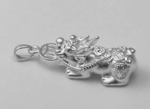 Sterling Silver Lucky Bless Argent Pi Xiu Pixiu pendentif charme Nouveau
