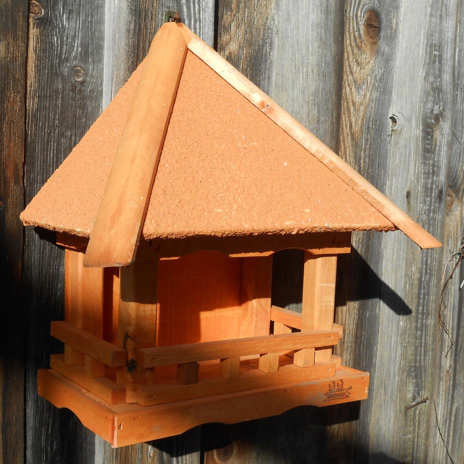 Montaje en parojo casa de pájaros pájaro casas para pájaros + projoección contra la intemperie retratado naranja
