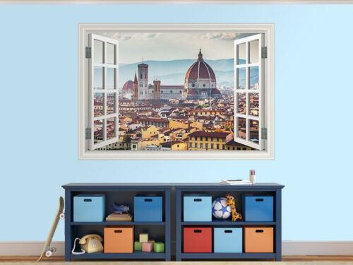 36426929ww Panorama of Florence Picture Window Sticker Wall Mural