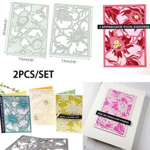 2pcs//set Backdrops Metal Cutting Dies DIY Stencil Scrapbooking Album Card Craft