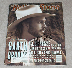 Details about COUNTRY SINGER GARTH BROOKS SIGNED AUTHENTIC ROLLING STONE  MAGAZINE w/COA