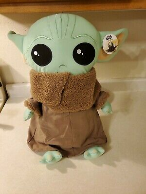 "Disney Star Wars Mandalorian The Child Pillow Buddy 18"" Plush Baby Yoda NWT"