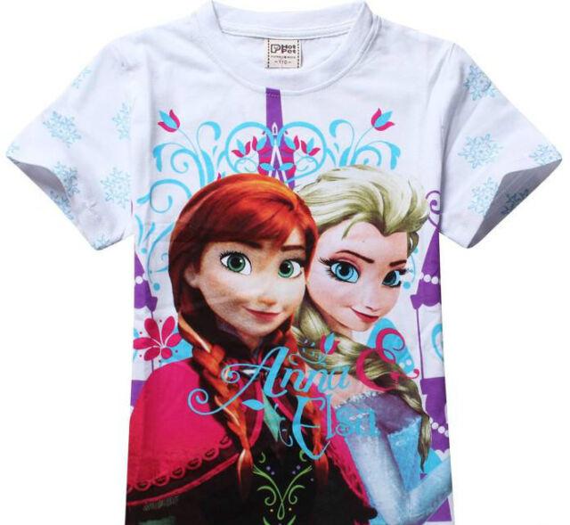 Frozen Anna Elsa girls children T- shirt Shirt  3 4 5 years summer