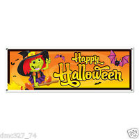 Happy Halloween Party Decoration Not So Spooky Witch Plastic Sign Banner 60x21