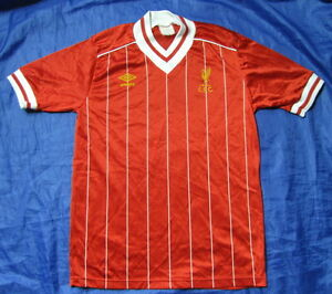 b7438356c19 1982-1985 FC LIVERPOOL RETRO UMBRO home shirt jersey The Reds  adult ...