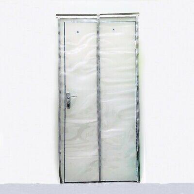 rieles de montaje galvanizados resistente a la intemperie completamente premontada protecci/ón contra salpicaduras Cortina de fleje de PVC Cortina el/ástica industrial de 2x200 mm transparente