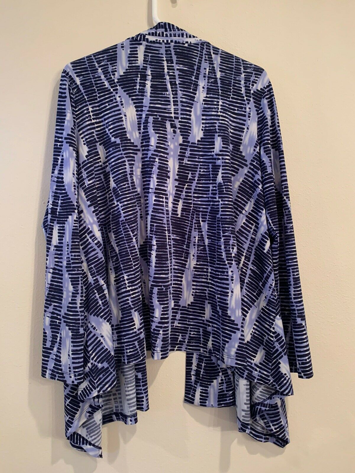 linea by louis dell'olio navy/lilac knit cardigan - image 3
