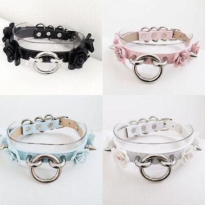 Lolita Sexy Harajuku Punk Rock Flower Spike Ring Choker Handmade Collar Necklace